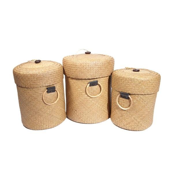 Set 3 košíkov Paniers, 50x39 cm