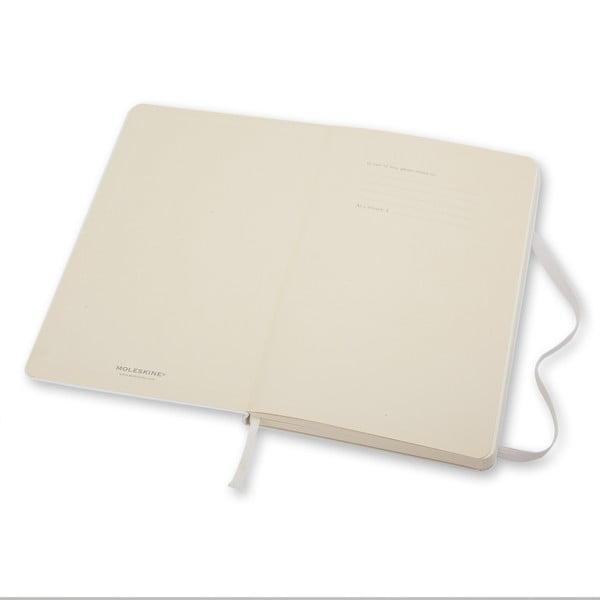 Zápisník Moleskine Hard 9x14 cm, biely + čisté stránky