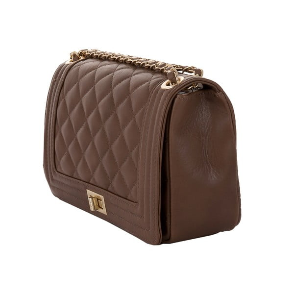 Kožená kabelka Andrea Cardone 2024 Taupe