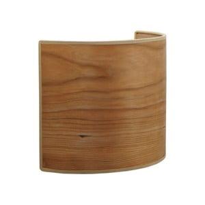 Nástenné svietidlo z prírodnej dyhy vofarbe čerešňového dreva Sotto Luce TSURI