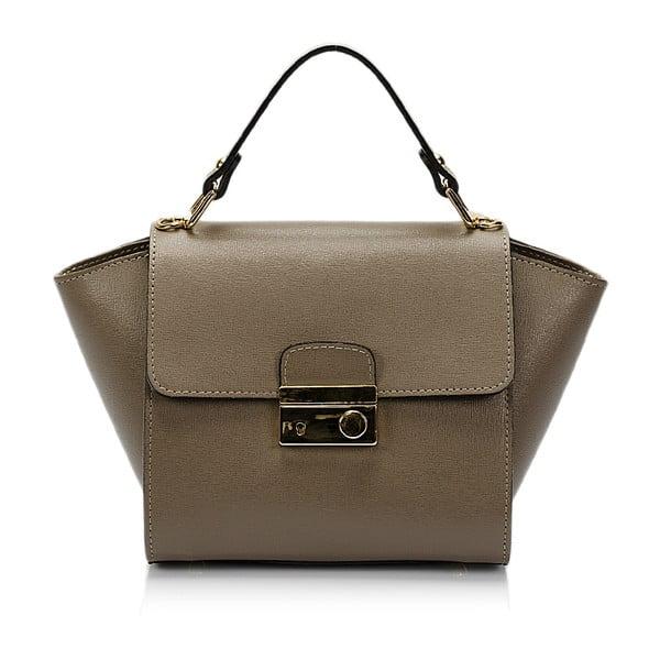 Béžová kožená kabelka Lisa Minardi Saffiano