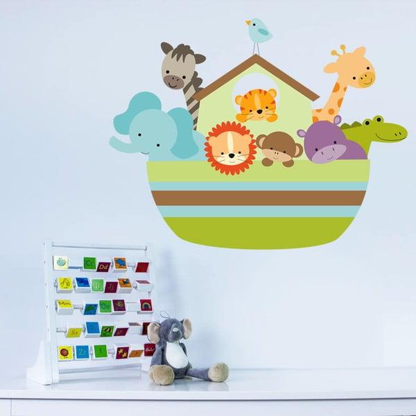 Dekoratívna samolepka na stenu Archa so zvieratkami