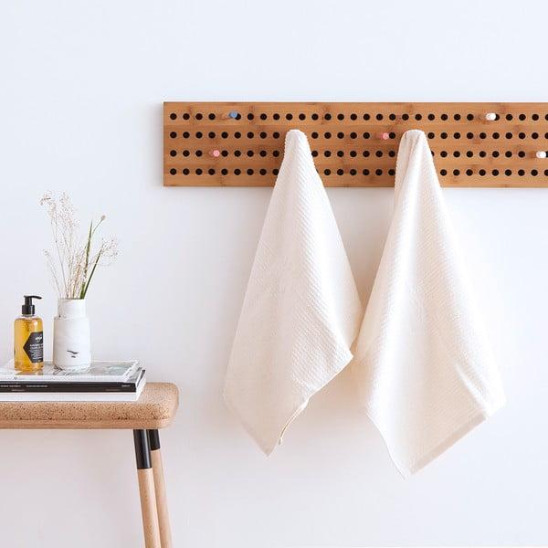 Sada 2 bielych froté uterákov Casa Di Bassi Stripe, 50x100 cm