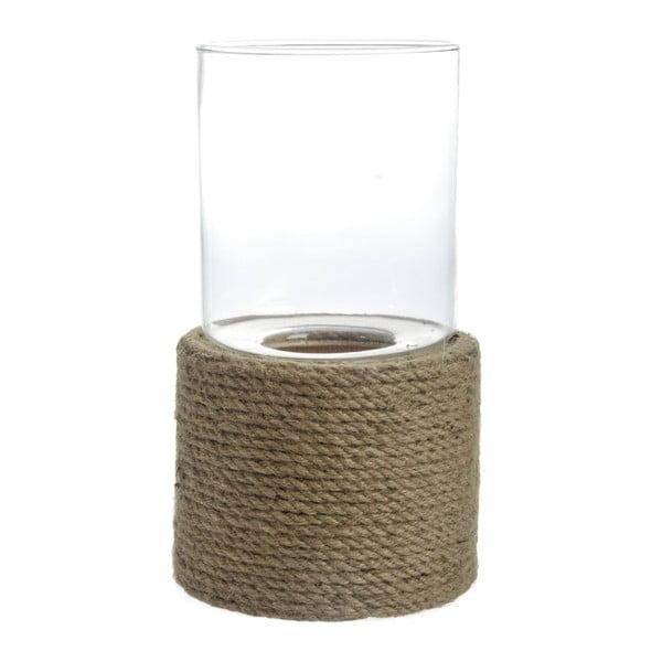 Svietnik Rope Glass, 21x21x40 cm