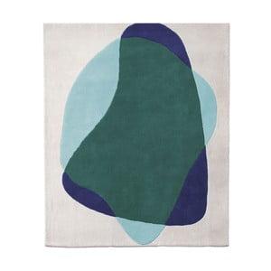 Zeleno-sivý koberec z čistej vlny HARTÔ Jane, 180×220 cm
