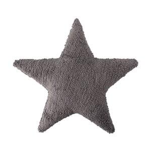 Tmavosivý bavlnený ručne vyrobený vankúš Lorena Canals Star, 54 x 54 cm