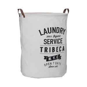 Biely kôš na bielizeň s popisom Premier Housewares Tribeca, 54 l