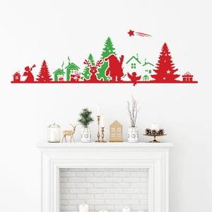 Vianočná samolepka Ambiance Frieze Red nad Green