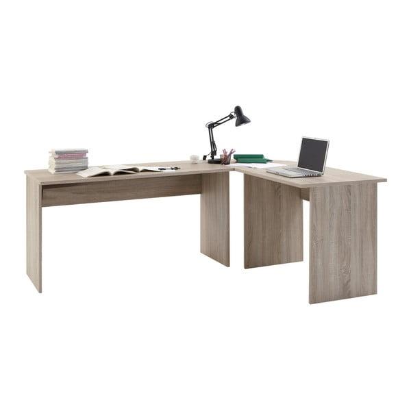 Rohový pracovný stôl v dekore dubového dreva 13Casa Till
