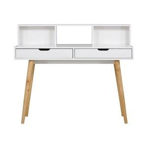 Biely drevený pracovný stôl SOB York