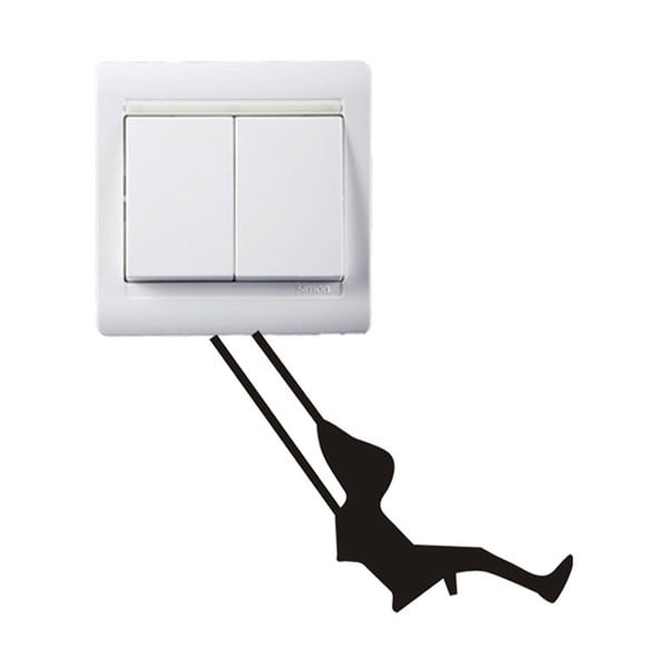 Dekoratívna samolepka Swing, 7x9 cm
