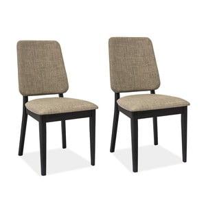 Sada 2 jedálenských stoličiek Fiori Grey