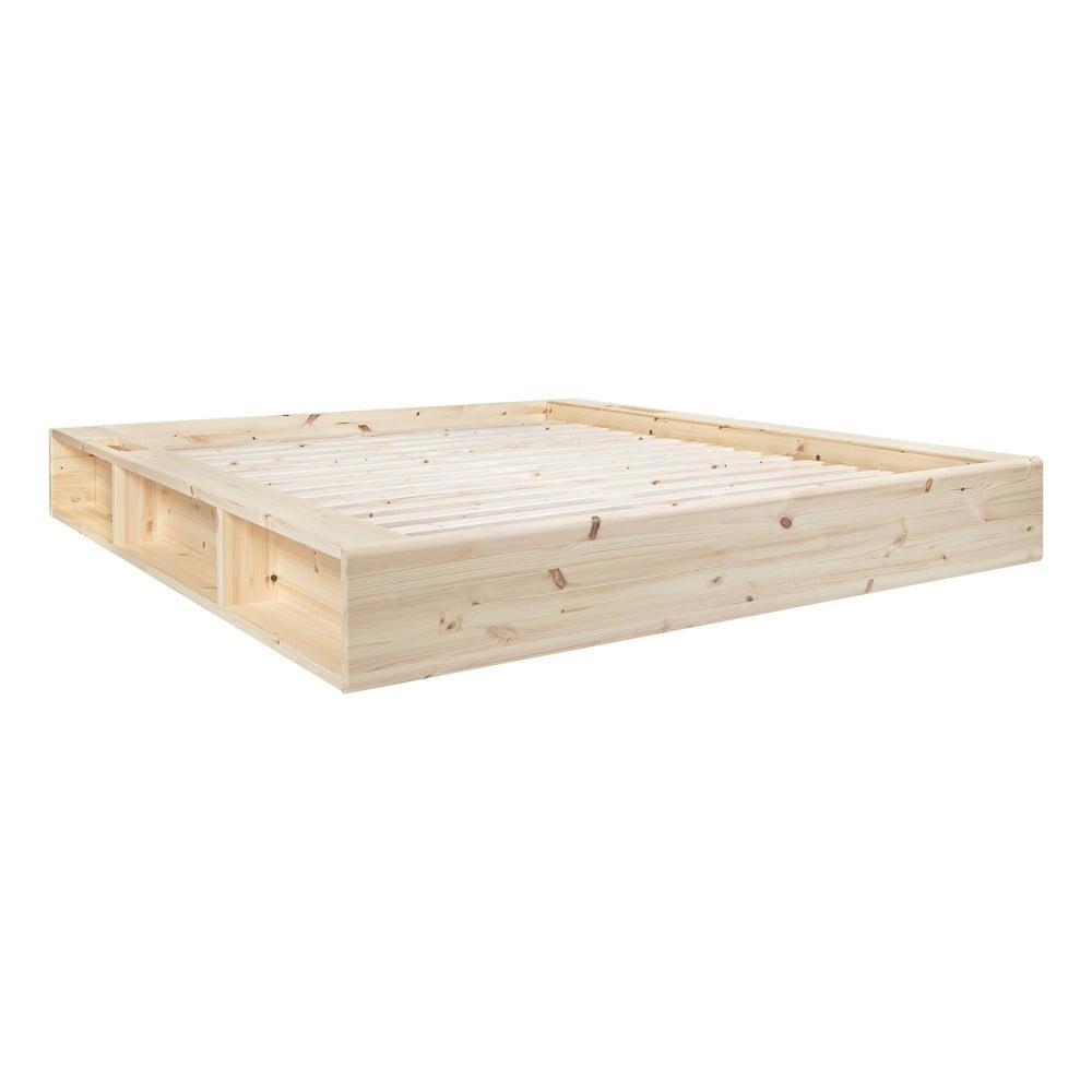 Dvojlôžková posteľ z masívneho dreva s úložným priestorom Karup Design Ziggy, 140 x 200 cm