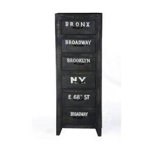 Čierna komoda so zásuvkami z mangového dreva SOB Manhattan