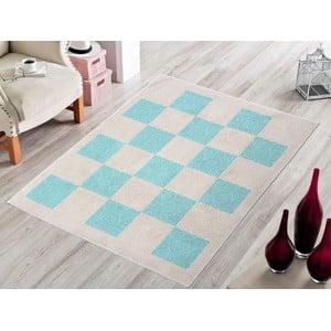 Modrý odolný koberec Vitaus Patchwork, 60x90cm