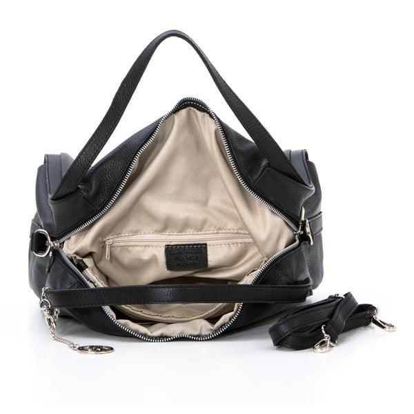 Kožená kabelka Riccardo, čierna