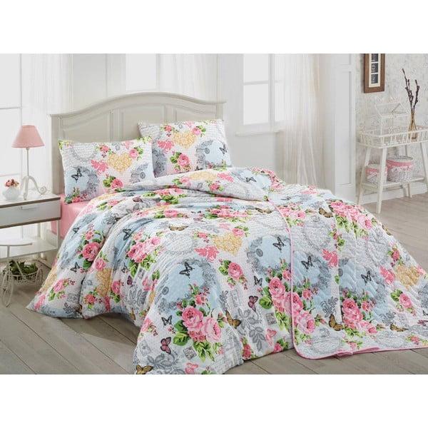 Obliečky s plachtou Mimoza Pink, 200x220 cm