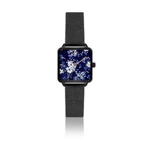 Dámske hodinky s remienkom z antikoro ocele v čiernej farbe Emily Westwood Yoko