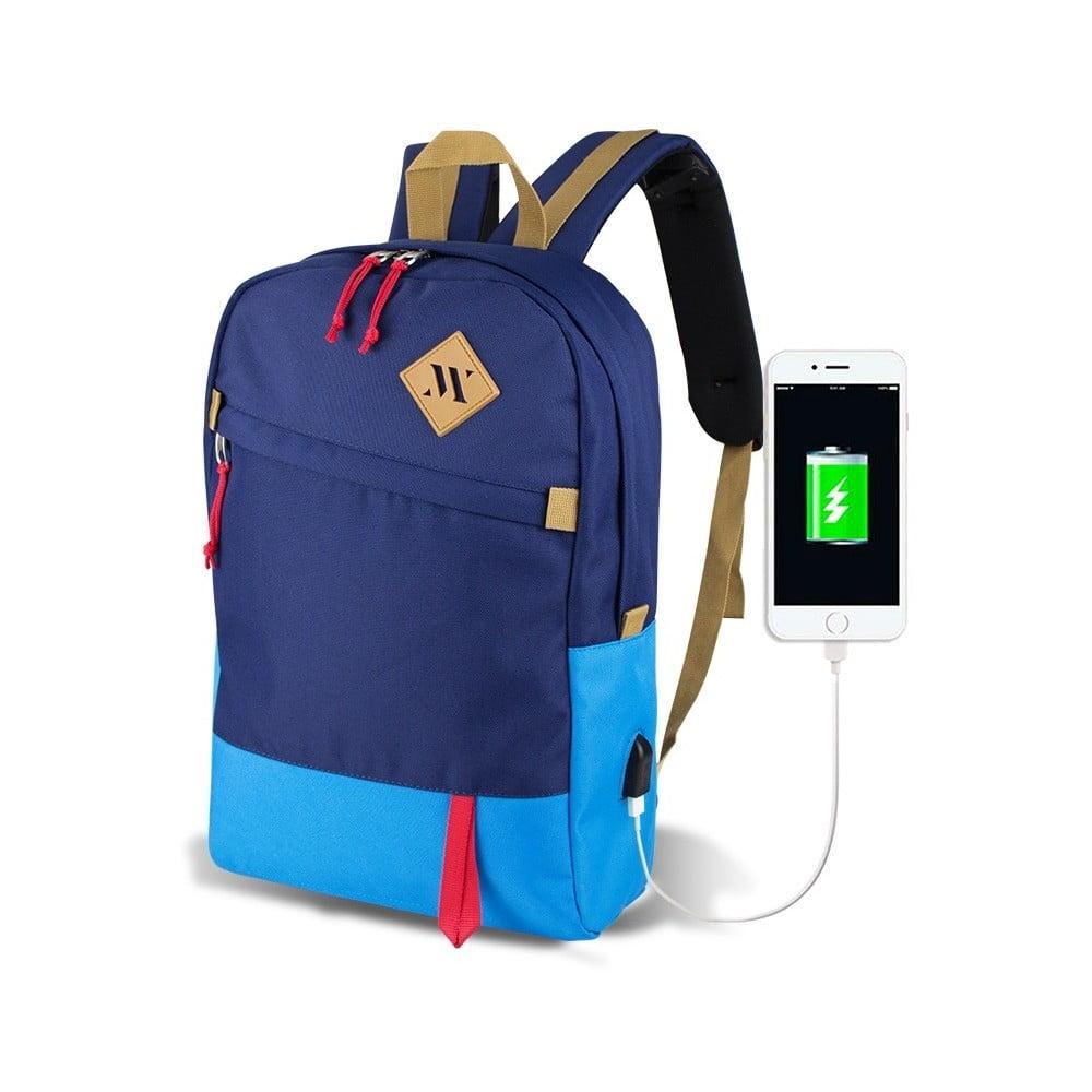 40ec46c32007 Modrý batoh s USB portom My Valice FREEDOM Smart Bag Mavi