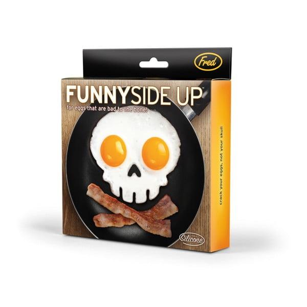 Čierna forma na vajíčka v tvare lebky Fred Funny Side Up