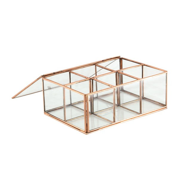 Sklenený box Six Copper