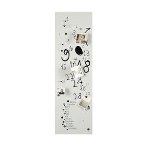 Magnetický kalendár Krok White, 30x100 cm