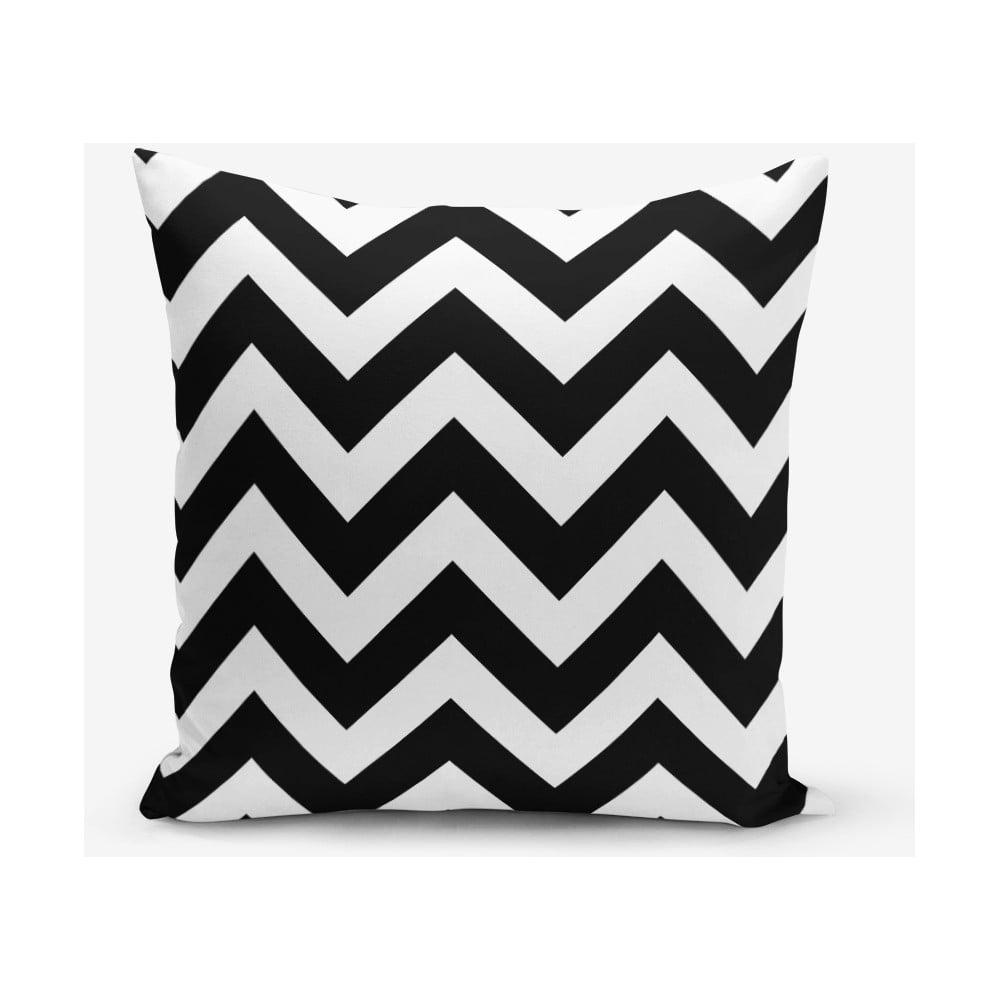 Čierno-biela obliečka na vankúš Minimalist Cushion Covers Stripes, 45 × 45 cm