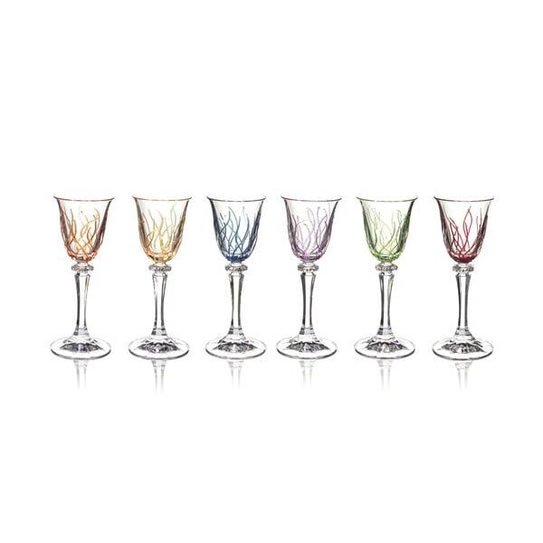 Sada 6 skleniček na likér Rainbow