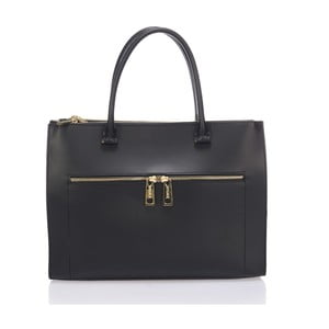 Kožená kabelka Krole Kate, čierna