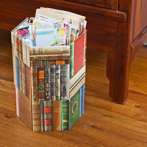 Kartónový odpadkový kôš Books