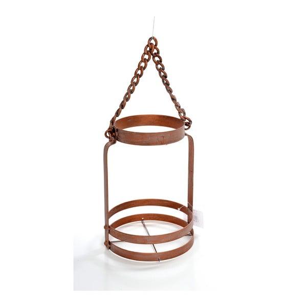 Kovový lampáš Copper, 15x15x24 cm