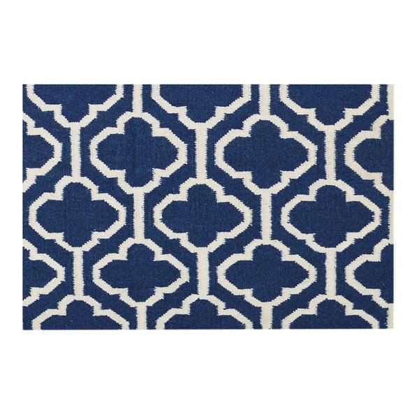 Vlnený koberec Penelope Blue, 140 x 200 cm