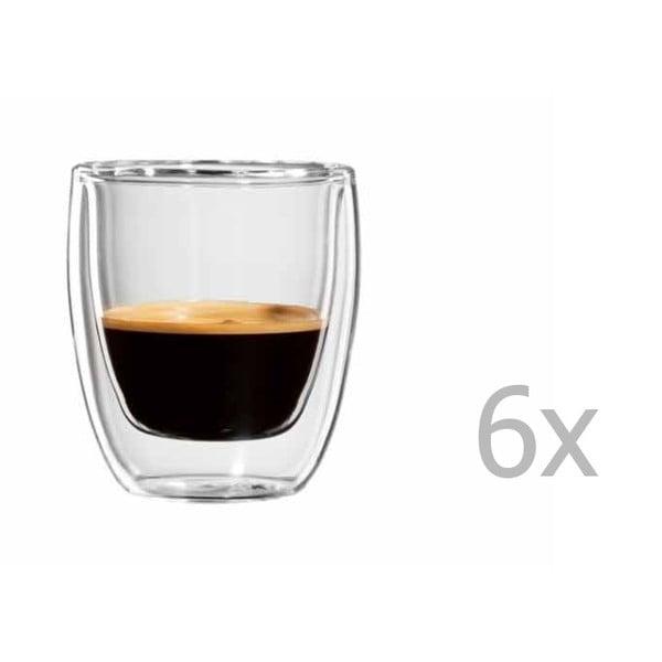 Sada 6 hrnčekov na espresso bloomix Roma