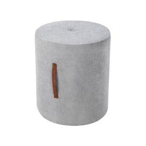 Sivá taburetka Kooko Home Motion, ø 40 cm
