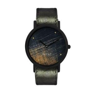 Unisex hodinky s tmavozeleným remienkom South Lane Stockholm Avant Noir