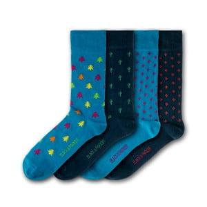 Sada 4 párov ponožiek Black & Parker London Dublin, vl. 37 - 43