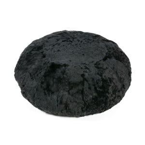Čierny taburet s krátkym vlasom Woooly Icelandic