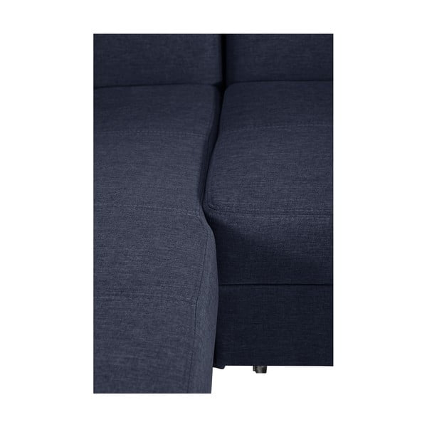 Modrá rozkladacia pohovka Modernist Icone, ľavý roh