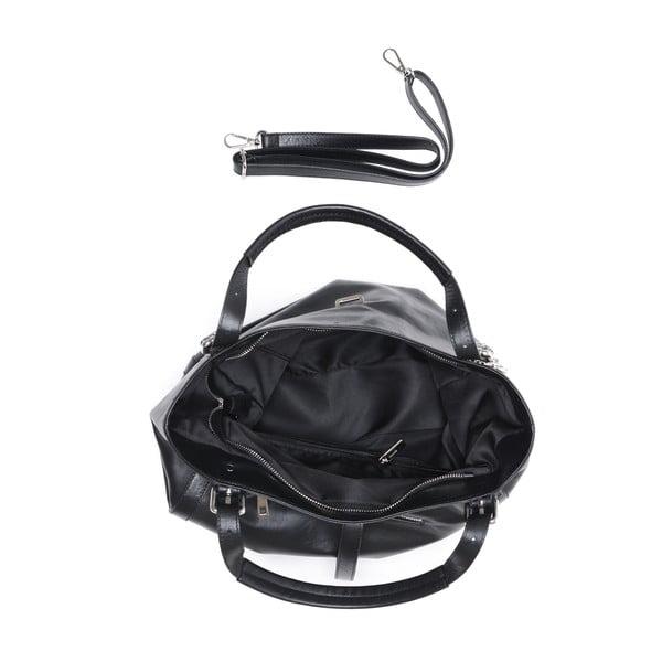 Čierna kožená kabelka Isabella Rhea Eva