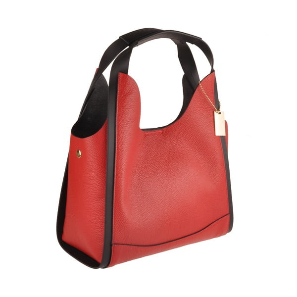 Červená kožená kabelka Florence Bags Maan