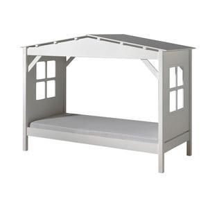 Biela detská posteľ Vipack Pino Cabin, 90 × 200 cm