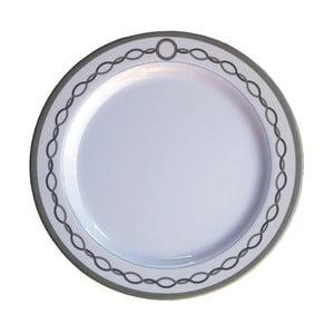 Sada 6 melamínových tanierov Sunvibes Chaine, ⌀ 25 cm