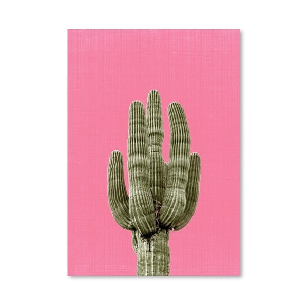 Plagát Cactus On Pink