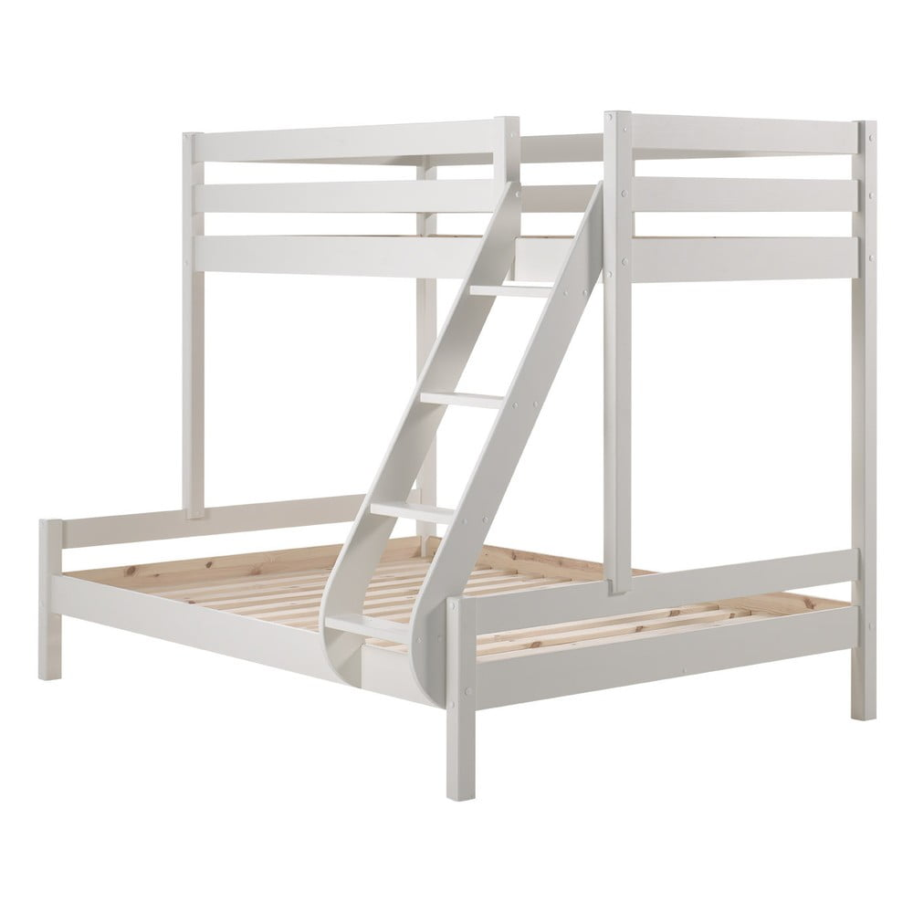 Biela rodinná posteľ s 2 lôžkami Vipack Pino Martin