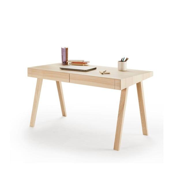 Písací stôl z litovského jaseňa EMKO 4.9, 2 zásuvky