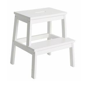 Biela dubová stolička/schodíky Rowico Nanna