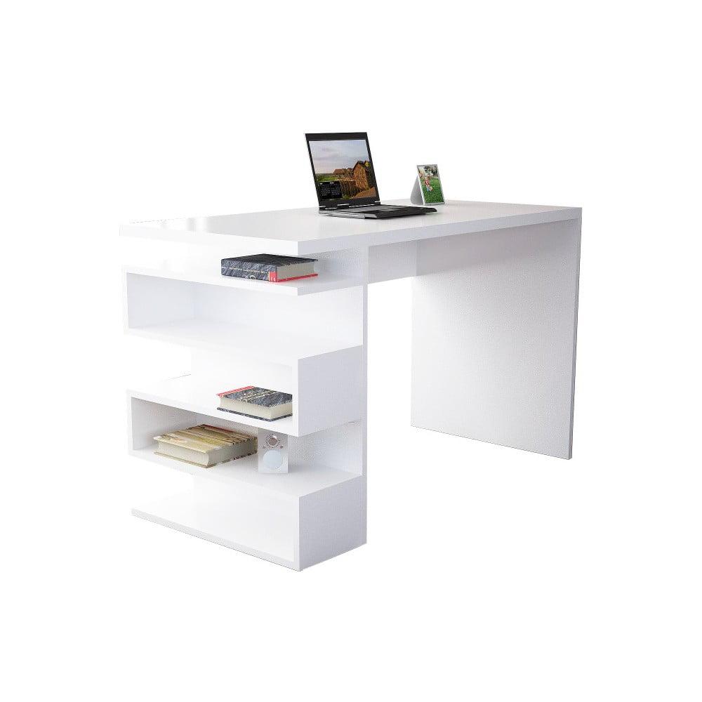 Biely pracovný stôl Gardo Snake