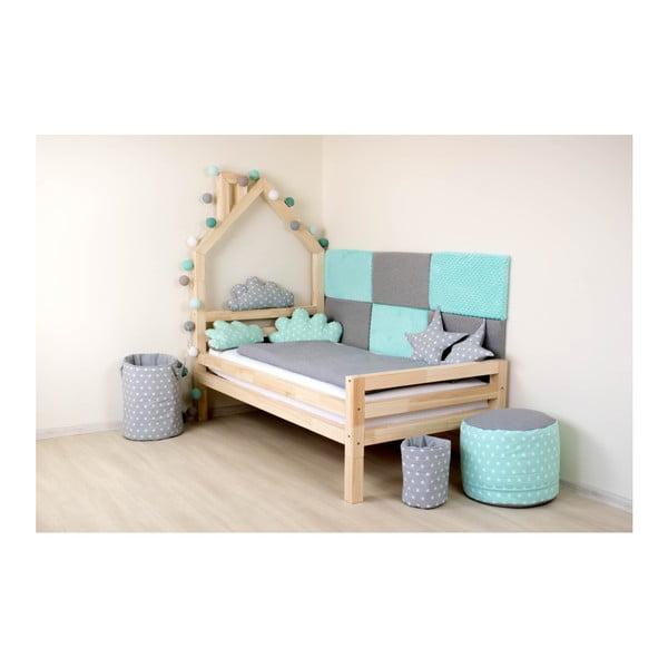 Detská biela posteľ zborovicového dreva Benlemi Wally, 90×160cm