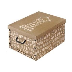 Hnedá úložná škatuľa Domopak Kraft