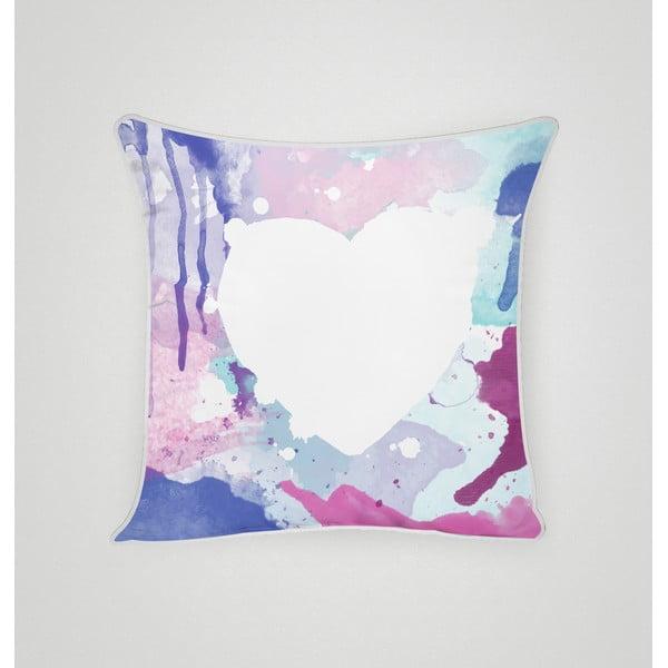 Obliečka na vankúš Blue Heart I, 45x45 cm